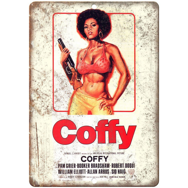 "Coffy Pam Grier Movie Poster - 10"" x 7"" Metal Sign - Vintage Look Reproduction"