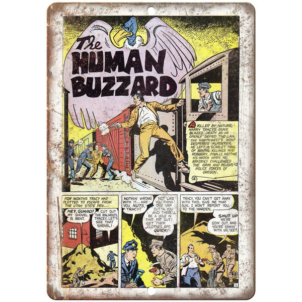 "Penalty! The Human Buzzard Comic Strip 10"" X 7"" Reproduction Metal Sign J353"