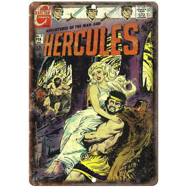 "Adventures Of The Man-God Hercules Comic 10"" x 7"" Reproduction Metal Sign J625"