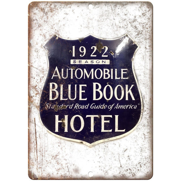 Blue Book Hotel Porcelain Look Reproduction Metal Sign U119