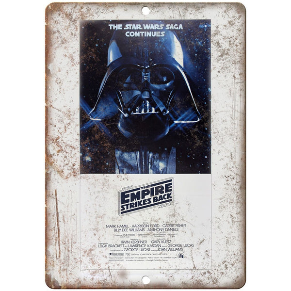 "10"" x 7"" Metal Sign - Star Wars The Empire Strikes Back - Vintage Reproduction"