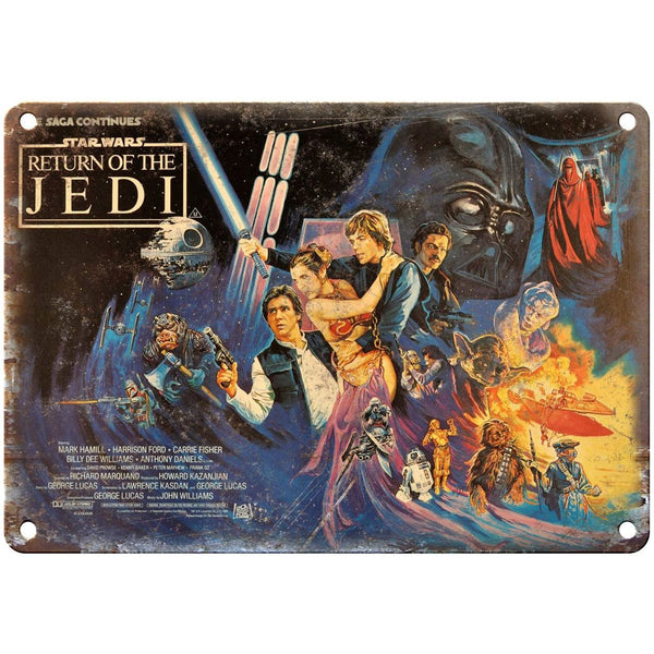 "10"" x 7"" Metal Sign - Return of the Jedi Star Wars - Vintage Look Reproduction"