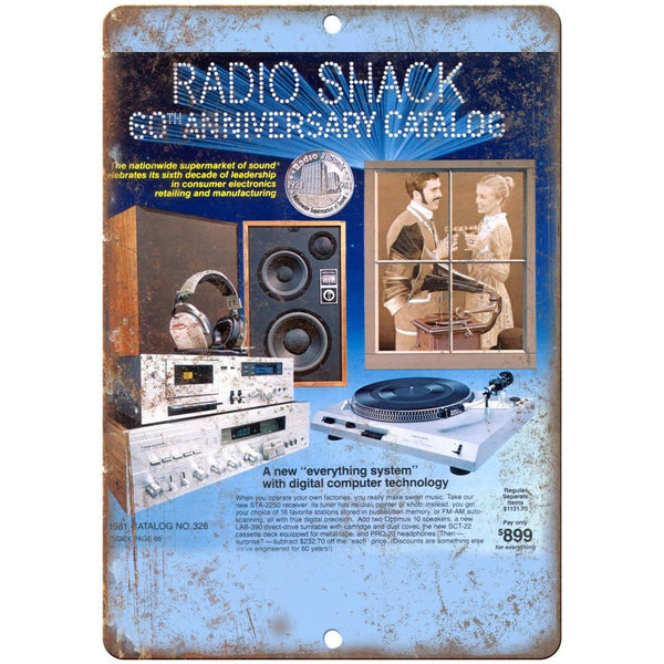 "Allied Radio Shack 60th Anniversary Catalog 10"" x 7"" Reproduction Metal Sign"
