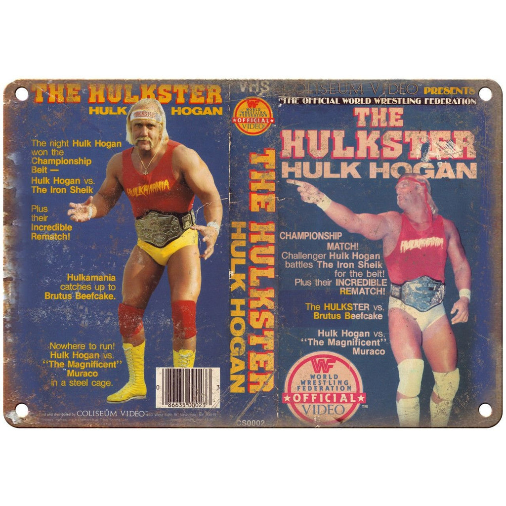 "WWF The Hulkster Hulk Hogan VHS Cover Art 10"" x 7"" Reproduction Metal Sign"