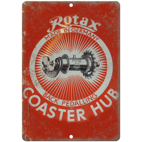 "Rotax Coaster Hub Gears Porcelain Look 10"" X 7"" Reproduction Metal Sign U111"