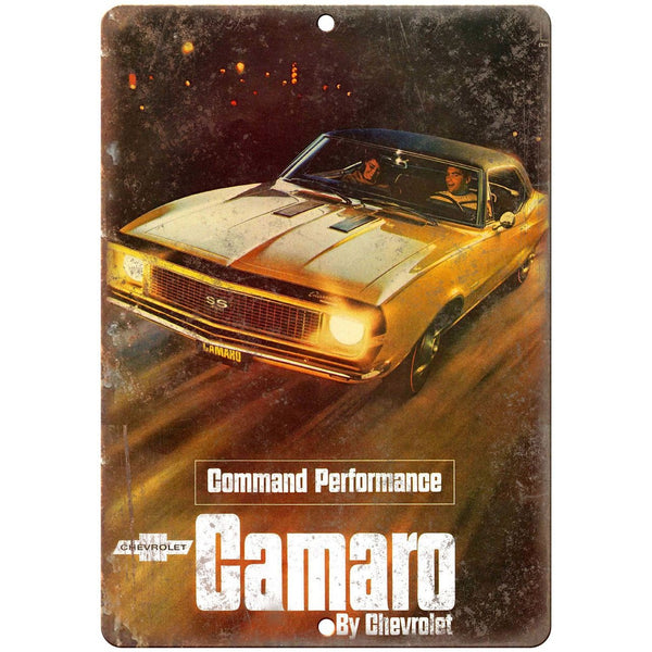 "1967 Chevy Camaro 10"" x 7"" Reproduction Metal Sign"