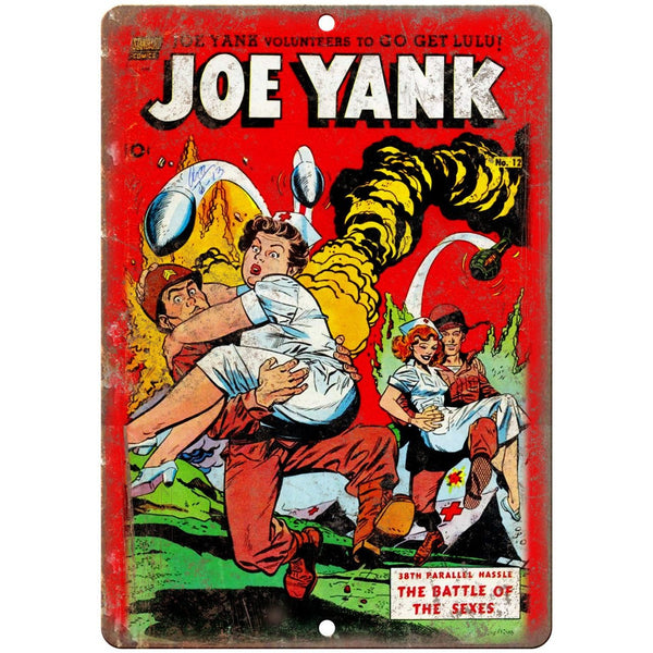 "Joe Yank Standard Comics Vintage Cover 10"" X 7"" Reproduction Metal Sign J455"