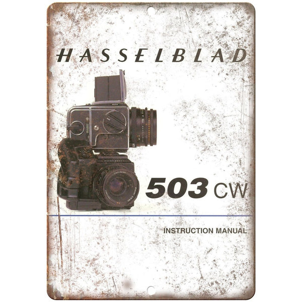 "Hasselblad 503 CW Film Camera 10"" x 7"" Retro Look Metal Sign"