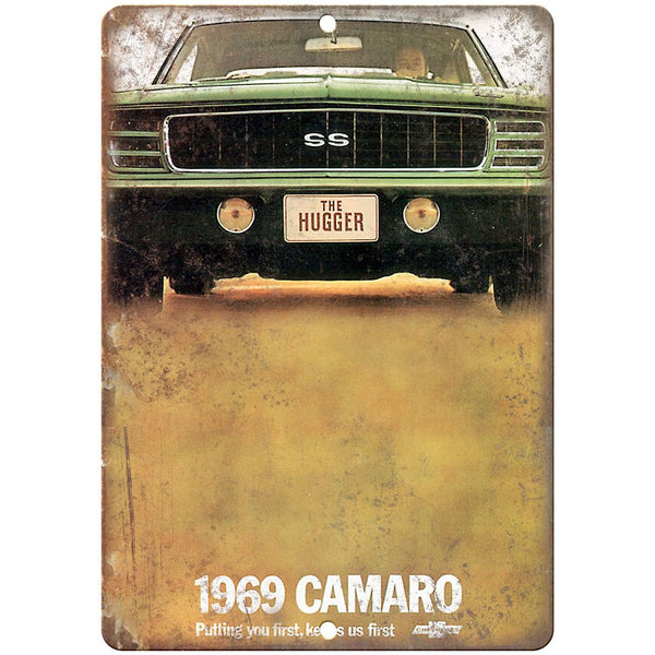 "1969 Chevy Camaro 10"" x 7"" Reproduction Metal Sign"