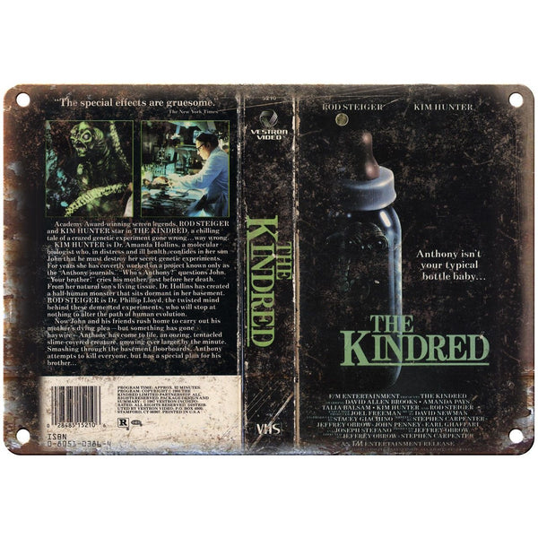 "The Kindred Vestron Home Video VHS Cover Art 10""X7"" Reproduction Metal Sign V27"