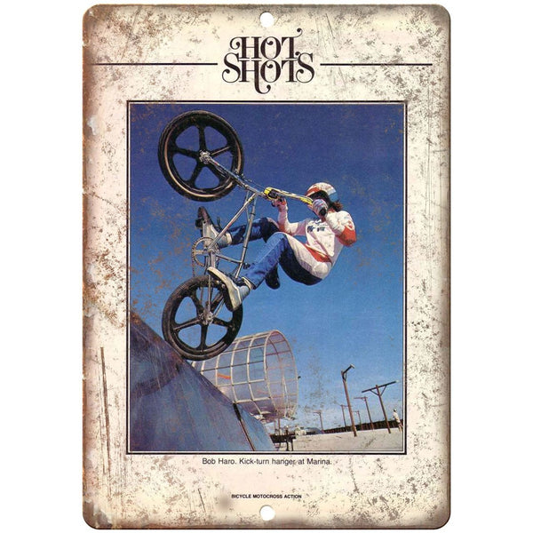 "10"" x 7"" Metal Sign - BOB HARO BMX Action Magazine - Vintage Look Reproduction"
