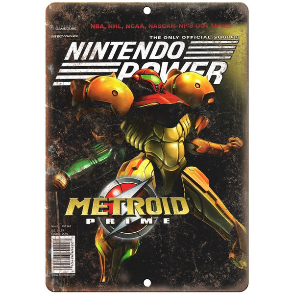 "Nintendo Power Metroid Prime Cover 10"" x 7"" Reproduction Metal Sign G284"