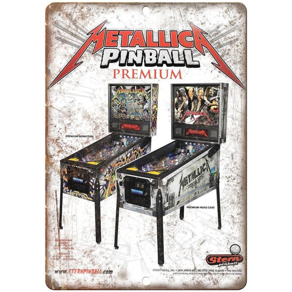 "Stern Pinball Machine Metallica Game Ad 10""x7"" Reproduction Metal Sign D83"