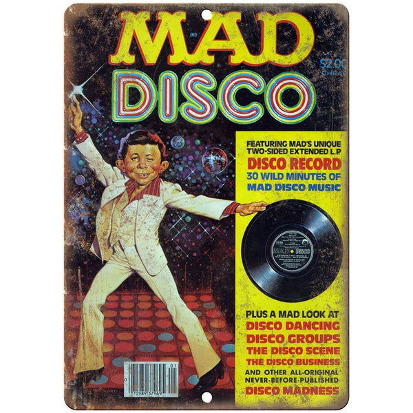 "MAD Magazine Saturday Night Fever Cover 10'"" x 7"" reproduction metal sign"