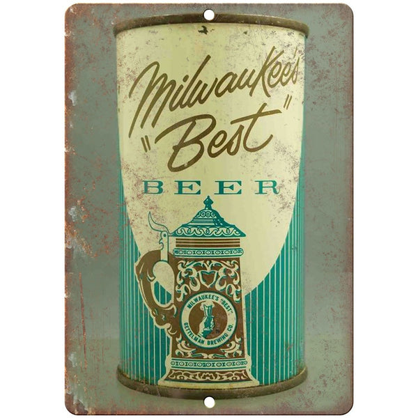 "Vintage Beer Can Milwaukee's Best 10"" x 7"" reproduction metal sign"
