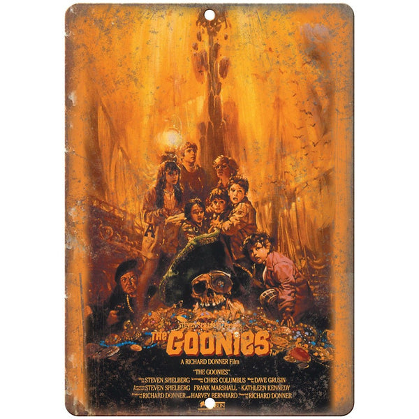 "The Goonies Steven Spieldberg Movie Poster 10"" x 7"" Reproduction Metal Sign"