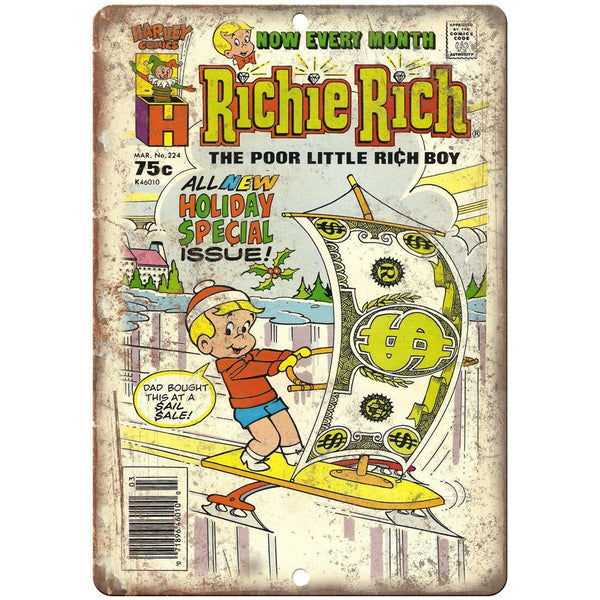 "Richie Rich Harvey Comics 10"" X 7"" Reproduction Metal Sign J226"