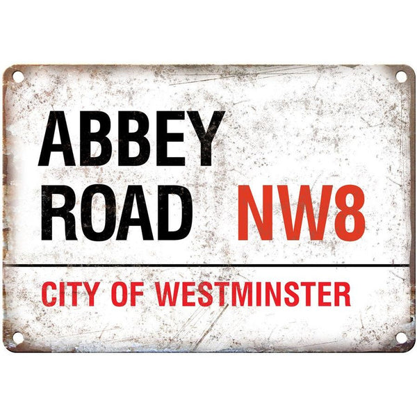 "Abbey Road NW8 City of Westminster 10"" x 7"" Reproduction Metal Sign"