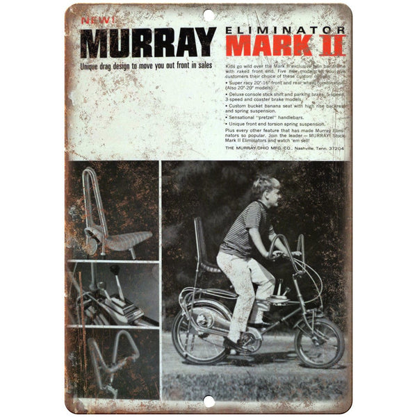 "Murray Mark II Eliminator Vintage Bicycle 10"" x 7"" Reproduction Metal Sign B503"