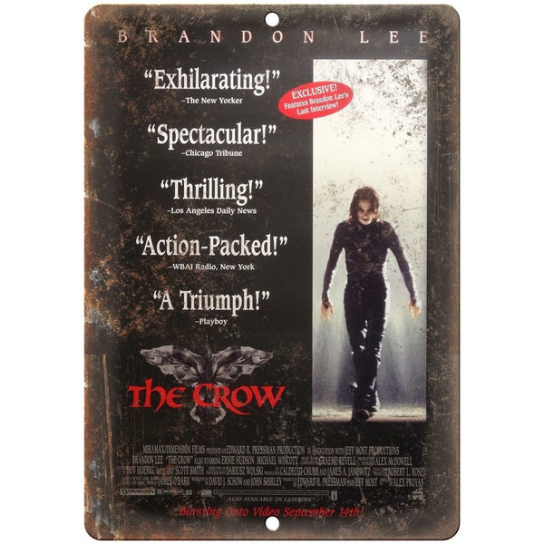 "10"" x 7"" Metal Sign - The Crow Brandon Lee - Vintage Look Reproduction"