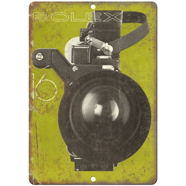 "Bolex 16 Film Camera10"" x 7"" reproduction metal sign"