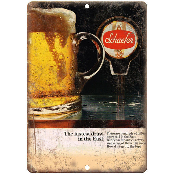"Schaefer Beer Vintage Breweriana Ad 10"" x 7"" Reproduction Metal Sign E375"