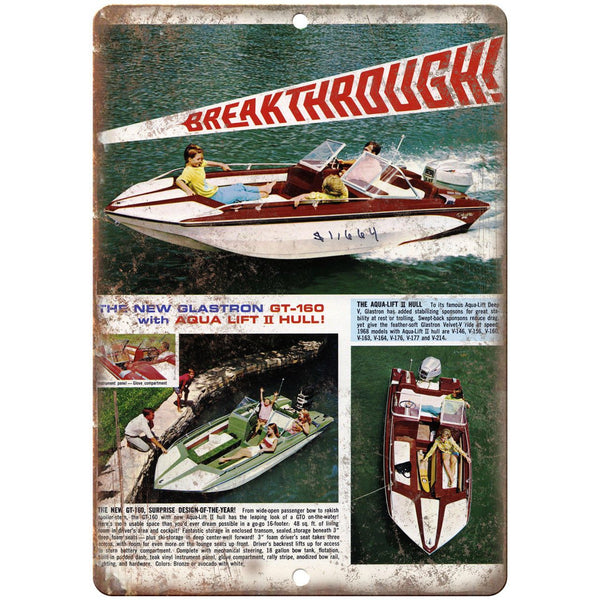 "The GT-160 Boating Vintage Ad 10"" x 7"" Reproduction Metal Sign L32"