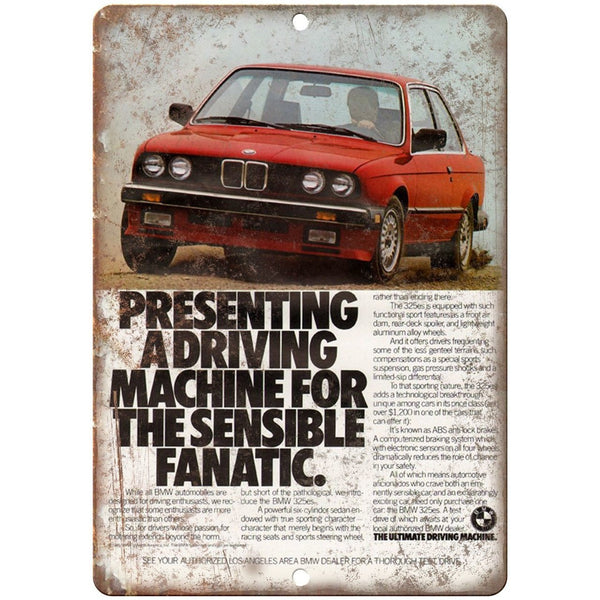 "BMW The Ultimate Driving Machine Vintage Ad 10""x7"" Reproduction Metal Sign A110"