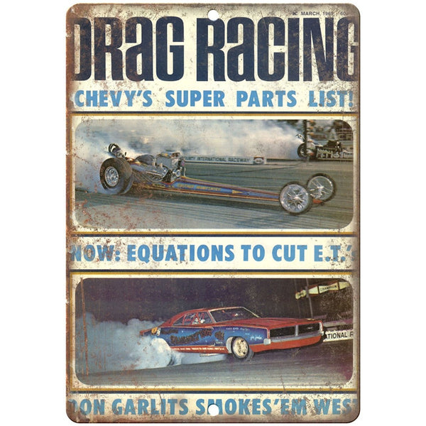 "1969 Drag Racing, Don Garlits, funny car, car race 10"" x 7"" Retro Metal Sign"