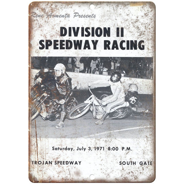 "1971 Trojan Speedway Motorcycle Races 10"" X 7"" Reproduction Metal Sign A562"