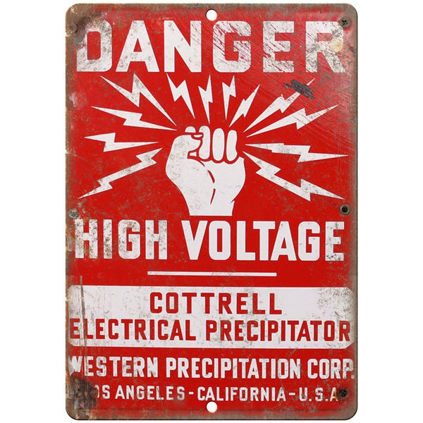 Danger High Voltage Porcelain Look Reproduction Metal Sign U151