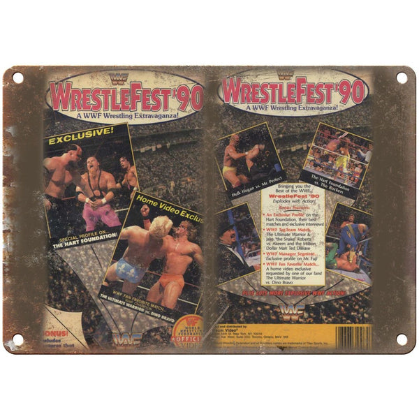 "WWF 1990 Wrestlefest Hulk Hogan VHS Cover Art 10"" x 7"" Reproduction Metal Sign"