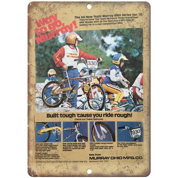 "10"" x 7"" Metal Sign - 1978 Murray BMX, GT, Hutch - Vintage Look Reproduction"