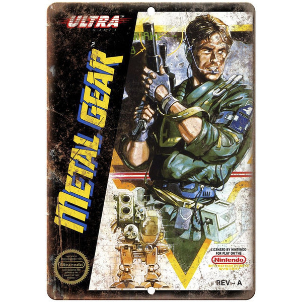 "Original Nintendo Metal Gear Ultra Box Art 10""x7"" Reproduction Metal Sign A30"