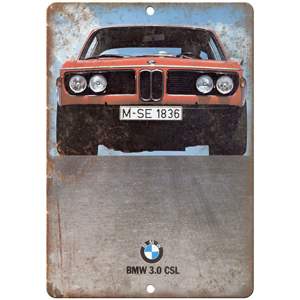 "BMW Bavarian Motor Works 3.0 CSL Vintage Ad 10""x7"" Reproduction Metal Sign A120"