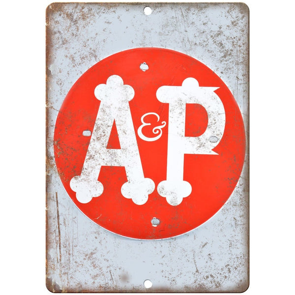 A&P Porcelain Look Reproduction Metal Sign U137