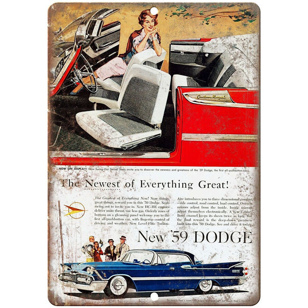 "1959 Dodge Royal Lancer Vintage Ad 10"" x 7"" Reproduction Metal Sign"