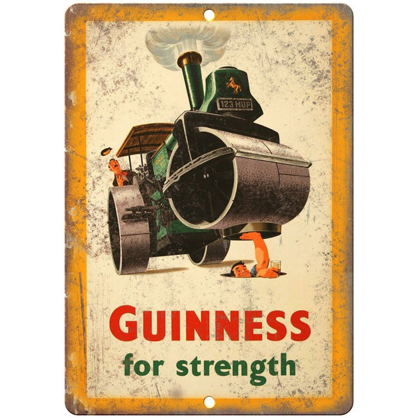"Guinness For Strength Vintage Ad 10"" x 7"" Reproduction Metal Sign E259"