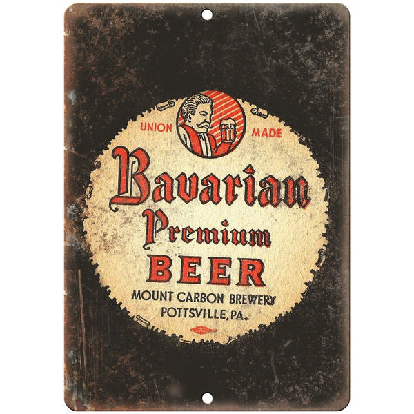 "Bavarian Premium Beer Vintage Ad 10"" x 7"" Reproduction Metal Sign E276"