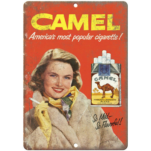 "Camel Cigarette Mild Flavorful Tobacco Ad 10"" X 7"" Reproduction Metal Sign Y20"