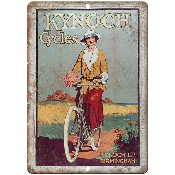"Kynoch Cycles Vintage Bicycle Ad 10"" x 7"" Reproduction Metal Sign B362"