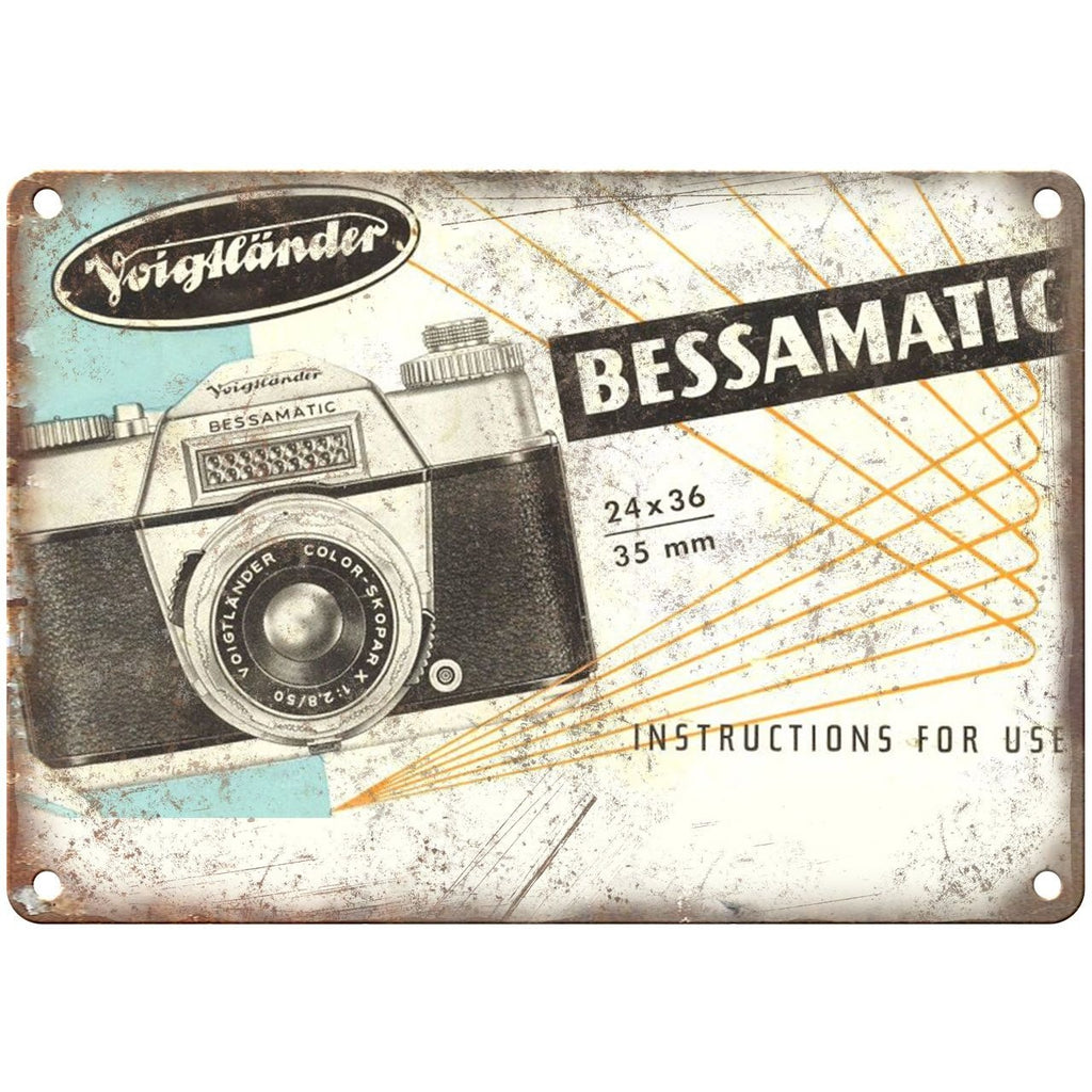 "Bessamatic 35mm Camera Voighander 10"" x 7"" reproduction metal sign"