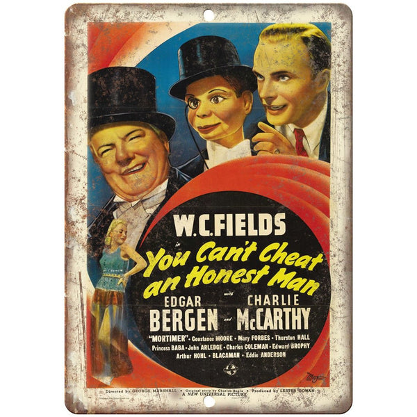 "WC Fields Edgar Bergen Ventriloquist 10"" X 7"" Reproduction Metal Sign ZH190"