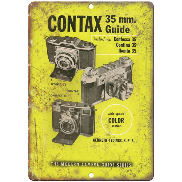 "Contax 35 mm Film Camera Contessa Contina 10"" x 7"" reproduction metal sign"