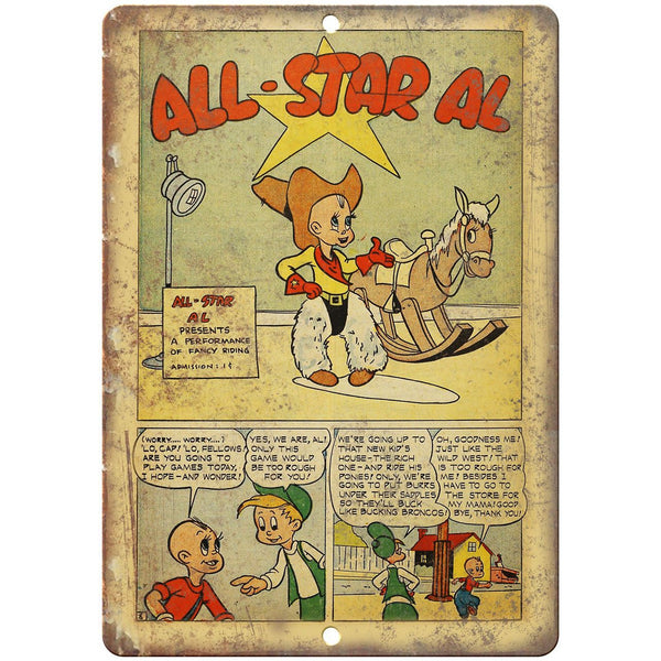 "All Star Al Strip Comic Vintage 10"" x 7"" Reproduction Metal Sign J547"