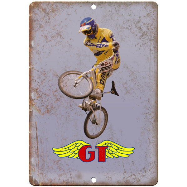 "10"" x 7"" Metal Sign - GT Mach One BMX, DYNO, Hutch - Vintage Look Reproduction"