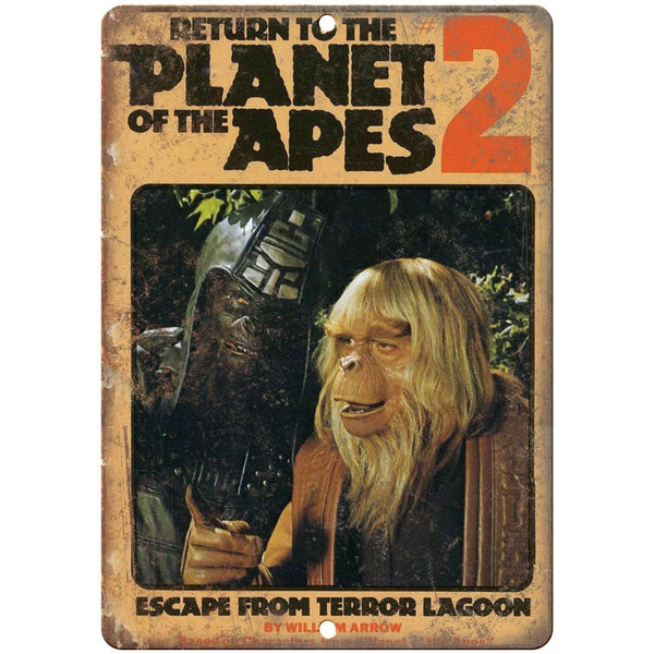 "Return to the Planet of the Apes book cover 10'"" x 7"" reproduction metal sign"