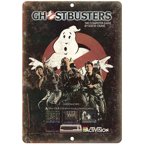"Activision Ghostbusters Computer Video Game 10"" x 7"" Reproduction Metal Sign G01"