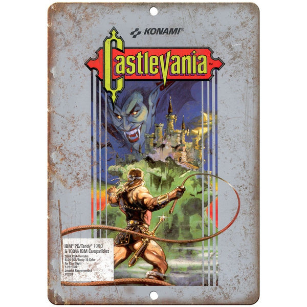 "Nintendo Konami Castlevania Gaming 10"" x 7"" Retro Look Metal Sign"