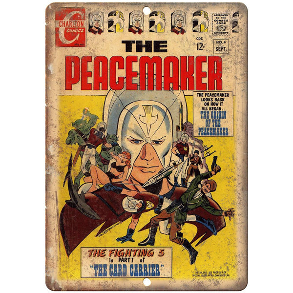"The Peacemaker Charlton Comics No 4 Cover 10"" x 7"" Reproduction Metal Sign J688"